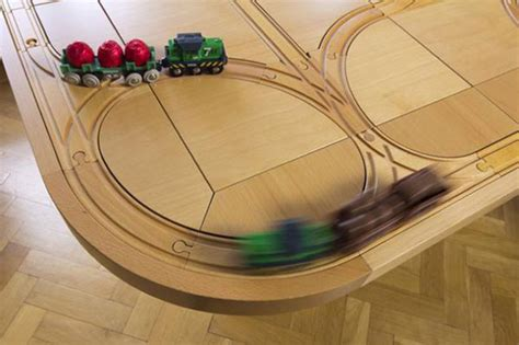 brio track plans creative 2 in 1 wooden train set dining tracktile table