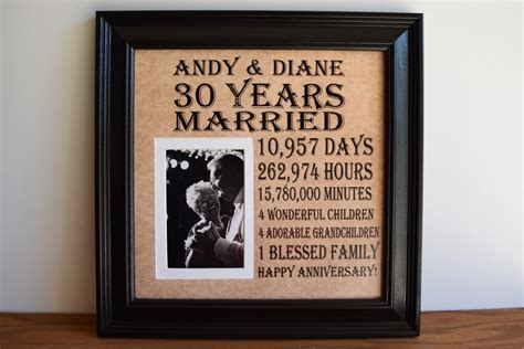 anniversary gifts for men personalized anniversary frame