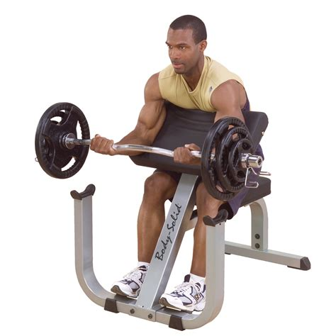 preacher bench exercises body solid heavy duty preacher curl bench online in india