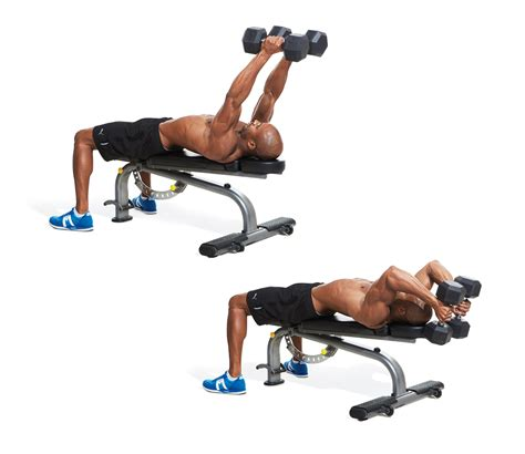 bench tricep extension lying triceps extension men s fitness