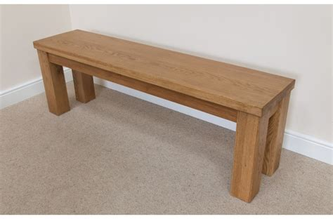 country benches indoor solid oak chunky rustic indoor wooden dining bench 1 2m