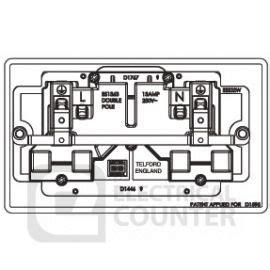 deta 6000 series wiring brushed stainless steel socket 13 2g bg