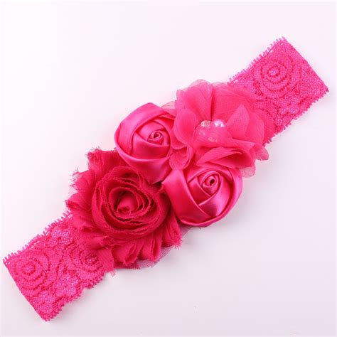 newborn baby headband bows lace flower children lace baby flower headband