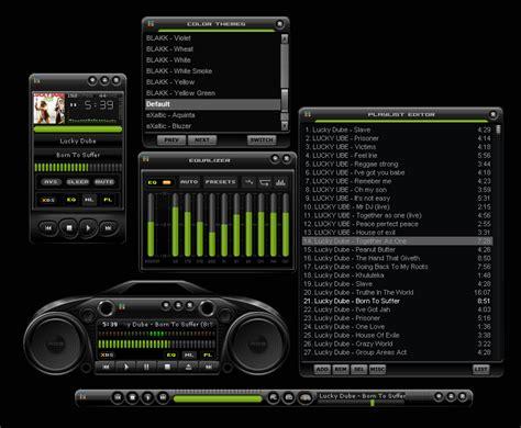 Cool Speakers winamp skins blakk by vica customize org