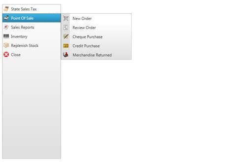 menu design wpf vertical menus menu wpf
