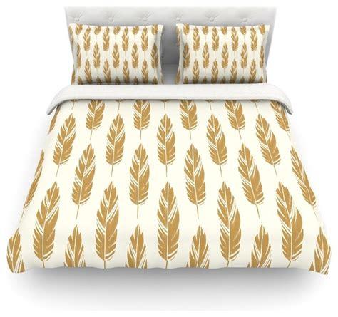 yellow pattern duvet cover kess inhouse amanda lane quot feathers yellow cream quot mustard
