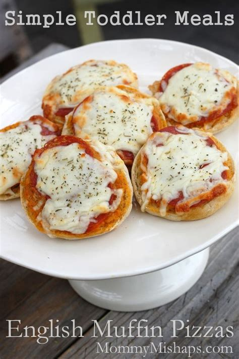 English Muffin Pizza Toaster Oven English Muffin Pizzas Simple Toddler Meals Pizza