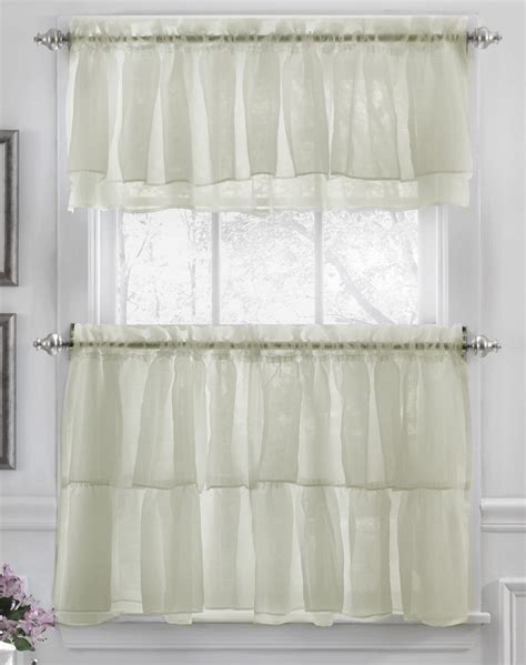 white kitchen curtains valances tier and valance curtains white lorraine