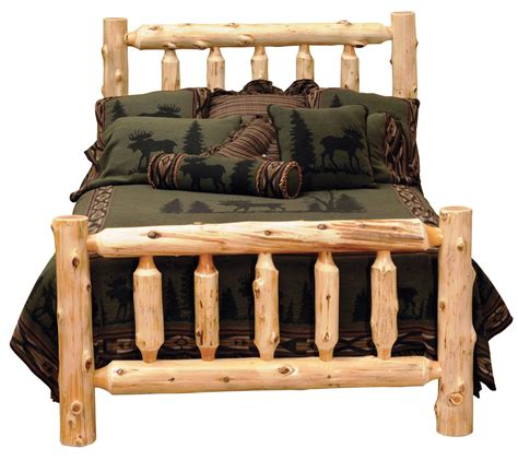 queen log bed cedar queen log bed from fireside lodge 10040 coleman