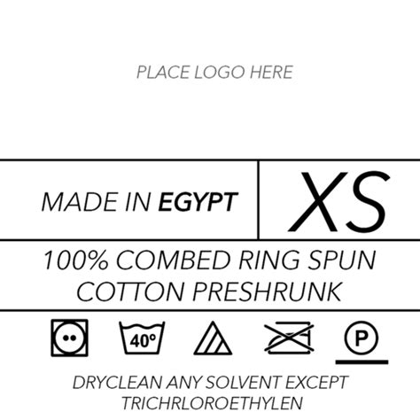 Clothing Care Label Template