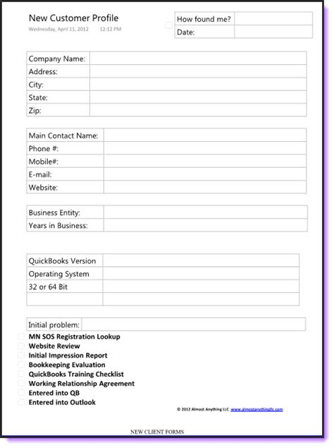 customer profile sheet template best photos of customer order form template excel excel