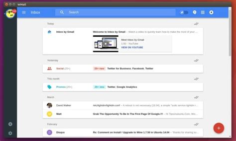 themes for google inbox install gmail google inbox client wmail in ubuntu 16