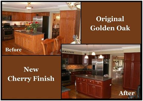 oak kitchen cabinets refinishing best 25 restaining kitchen cabinets ideas on pinterest