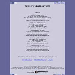 phillip phillips home lyrics traduction