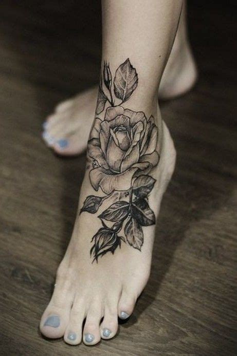 black foot tattoo designs best 25 flower foot tattoos ideas on lotus