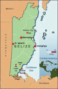 map of south america belize america map