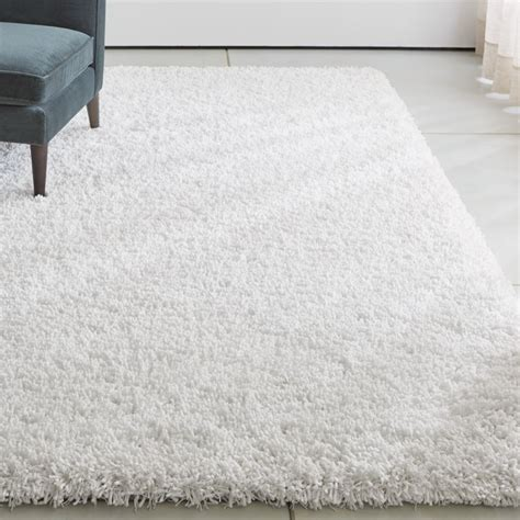 white shag rug crate and barrel