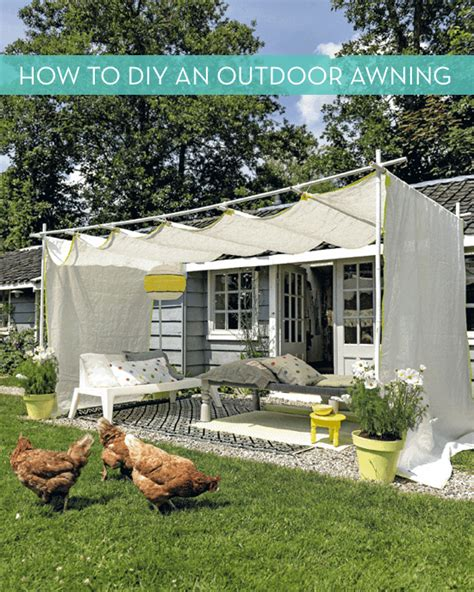 awnings diy make it diy outdoor awning 187 curbly diy design decor