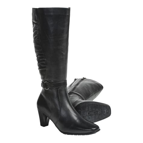 womens knee high leather boots with fantastic images in