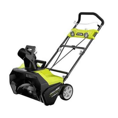 small snow blowers home depot ryobi 20 in 40 volt brushless cordless electric snow