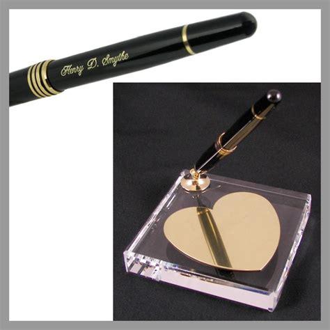desk pen sets engraved crystal heart single pen engraved desk pen set the