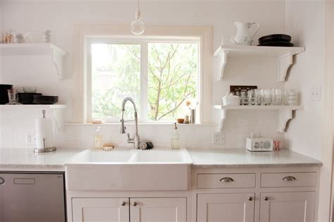 ikea apron sink kitchen traditional with white farmhouse carrera and cabinet
