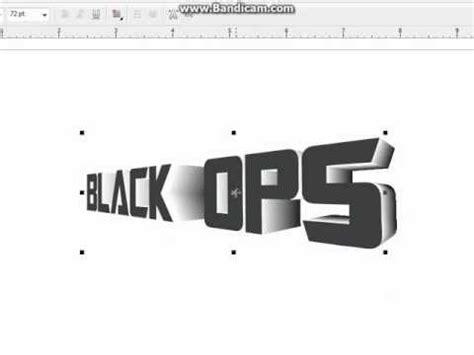 corel draw x5 effects tutorials coreldraw x5 3d text youtube
