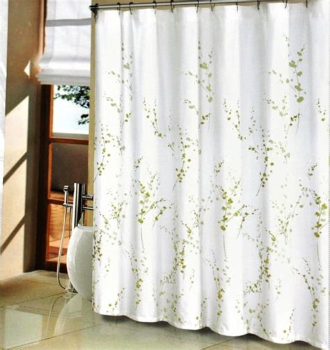 Curtains Green And White Green And White Shower Curtain Pmcshop