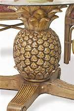 pineapple furniture pelican reef reef pineapple table with glass top