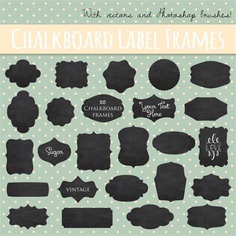 design label with photoshop clip art vintage chalkboard labels vector layered eps