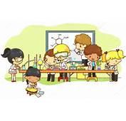 Dibujos Animados Cient&237fico Ni&241os Est&225n Estudiando Y Trabajando