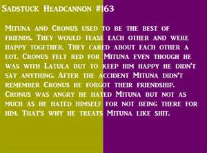 Mituna and cronus used to be the best of friends all the