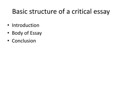 Structure Of A Critical Essay by Ppt Shooting An Elephant Powerpoint Presentation Id 2444870
