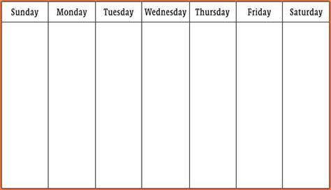 7  weekly calendar template word   Registration Statement 2017