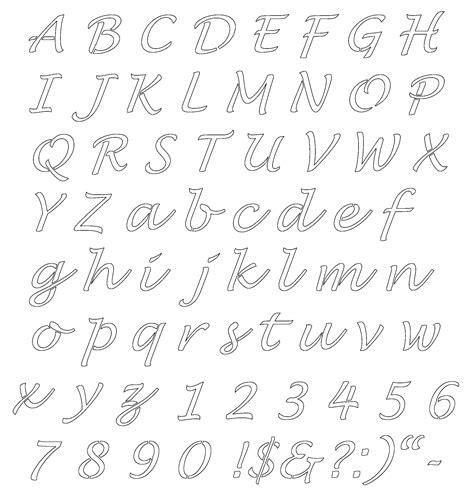 printable letter stencils templates  images