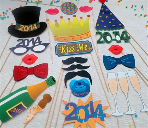 photo booth props printable pdf new year pdf ultimate 2014 new year photo booth props decorations