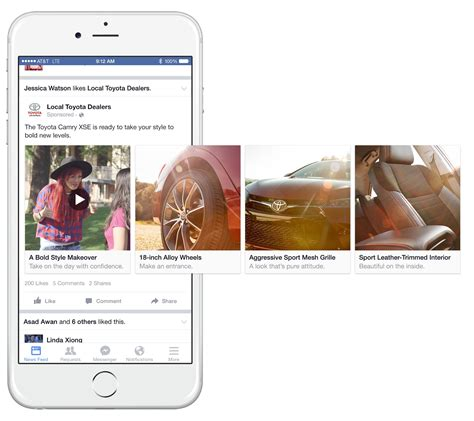 format video facebook ads website facebook share show in carousel post format