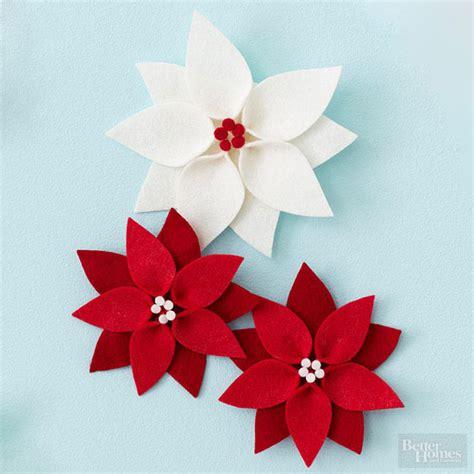pattern for felt poinsettia flower felt poinsettia christmas ornament