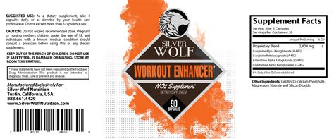 supplement packages workout supplement package