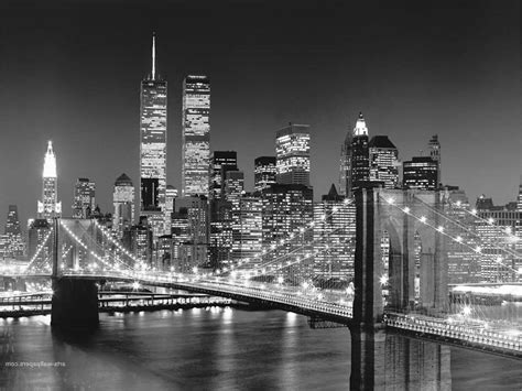 new york city skyline black and white wallpaper new york skyline wallpaper black and white www imgkid