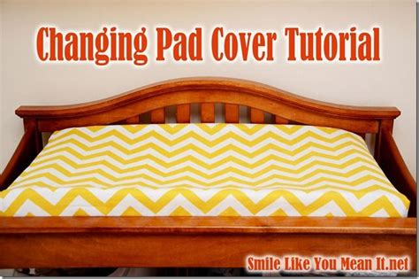 Changing Table Pad Cover Pattern Changing Pad Cover Tutorial Now Pinterest
