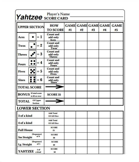 best 25 yahtzee score card ideas on pinterest yard