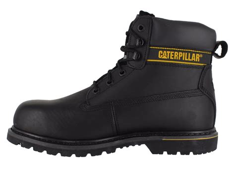 steel toe lace up work boots mens caterpillar holton sb safety steel toe cap lace up