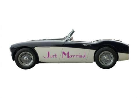 Auto Sticker Hochzeit by Autoaufkleber Hochzeit Just Married T06
