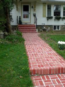 painted brick walkway