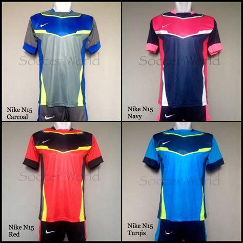 Setelan Olahraga Kaos Bola Jersey Futsal Baju Nike 5 Hitam Biru Muda jual baju kaos olahraga jersey bola setelan futsal nike