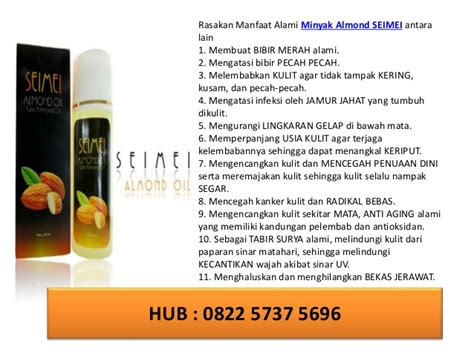 Minyak Almond Asli minyak almond beli dimana seimei 0822 5737 5696