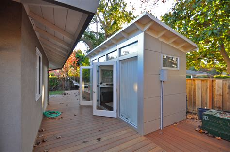 backyard office shed like this 8x14 studio shed build yours in our online