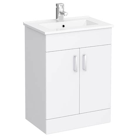 Gloss White Vanity Unit by Bianco Gloss White Vanity Unit With Coupled Toilet