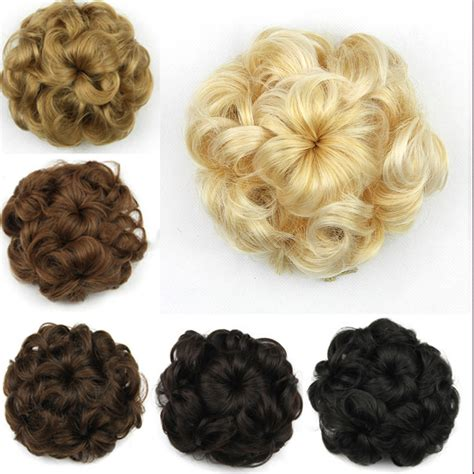 List Of Different Types Of Hair Buns by Hair Bun Clip In Hair Pieces Chignon Synthetic Hairpieces